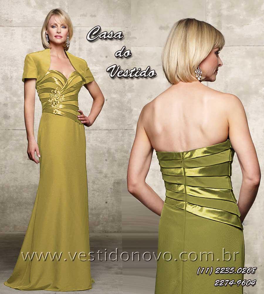 25097f5a3 Vestido de festa longo mãe do noivo ou bodas de ouro na cor pastel ouro  claro